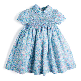 Traditional English Floral Handsmocked Dress - Dress - PEPA AND CO