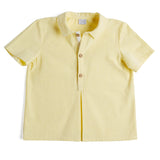 Yellow Striped Polo Cotton Shirt - Shirt - PEPA AND CO