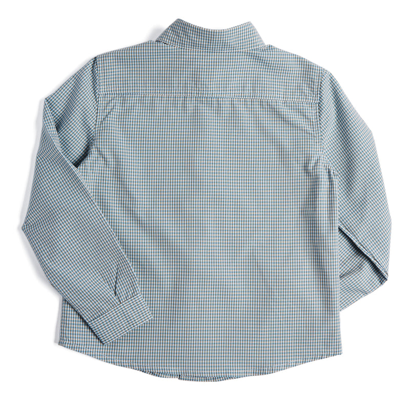 Green Checked Boys Cotton Shirt - Shirt - PEPA AND CO