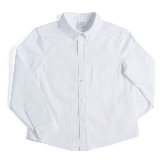 White Striped Boys Cotton Shirt - Shirt - PEPA AND CO