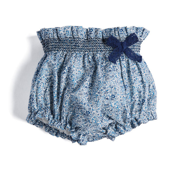 Navy and White Floral Print Cotton Bloomers - Bloomers - PEPA AND CO