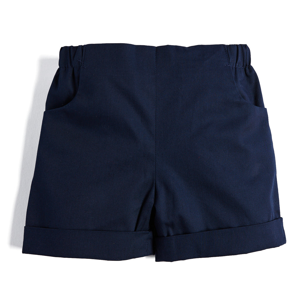 Navy Baby Boy Cotton Shorts - Shorts - PEPA AND CO