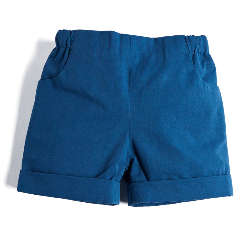 Blue Baby Boy Cotton Shorts - Shorts - PEPA AND CO