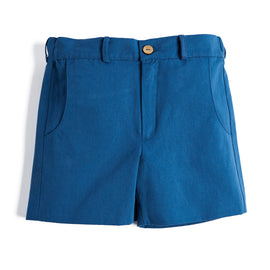 Boy's Blue Cotton Shorts - Shorts - PEPA AND CO