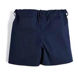 Boys' Navy Cotton Shorts - Shorts - PEPA AND CO