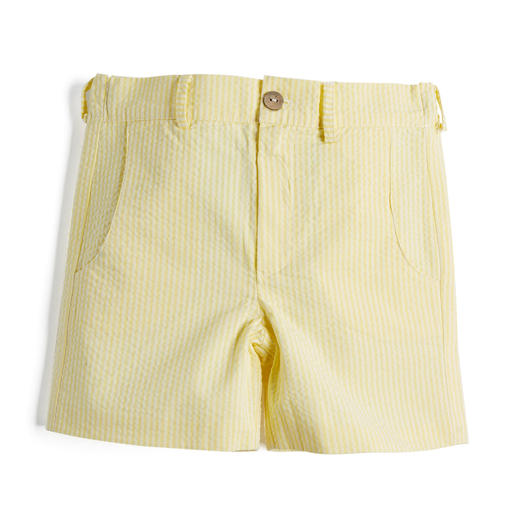 Yellow Striped Boy's Cotton Shorts - Shorts - PEPA AND CO