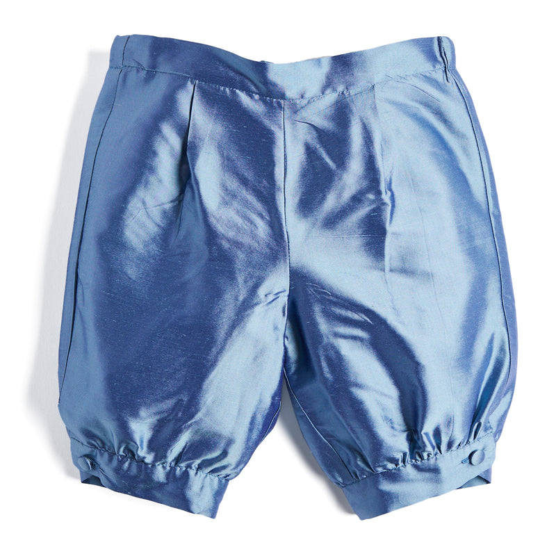 Blue Silk Celebration Knickerbockers - Shorts - PEPA AND CO