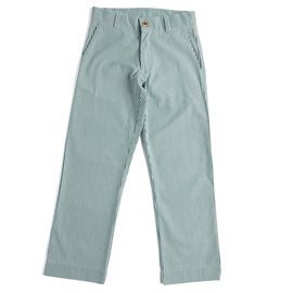 Green Striped Boy's Cotton Chinos - Trousers - PEPA AND CO