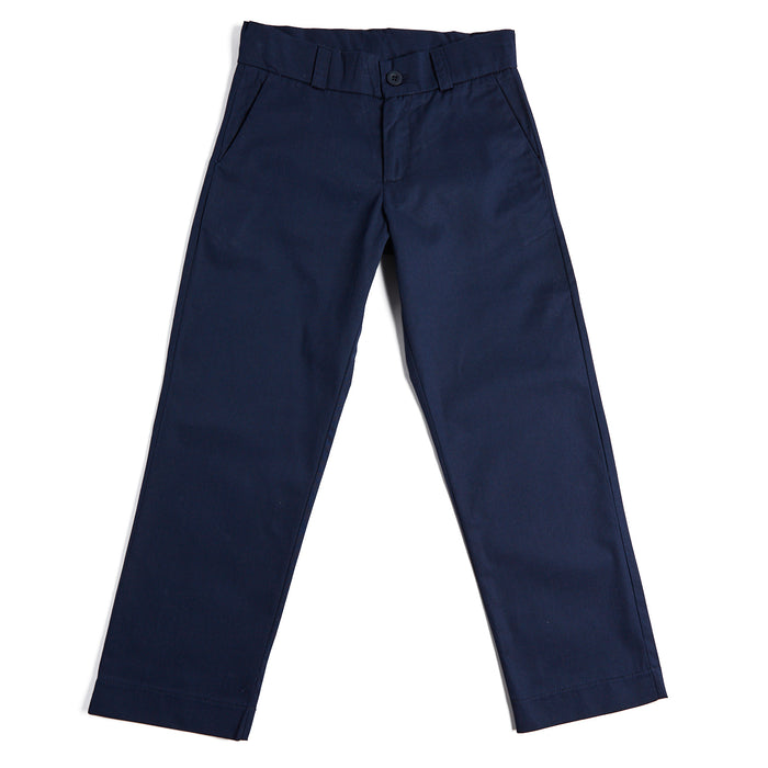 Navy Boy's Cotton Chinos - Trousers - PEPA AND CO