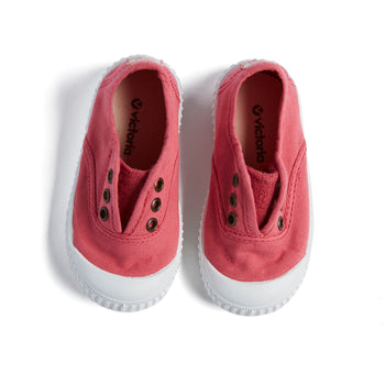 Raspberry Pink Plimsolls - Shoes - PEPA AND CO