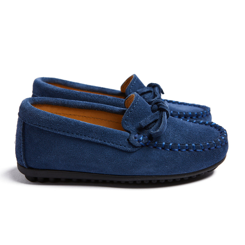 Blue Suede Loafers - Shoes - PEPA AND CO