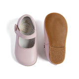 Mary Jane Pink Leather Baby Shoes - MARY JANE - PEPA AND CO