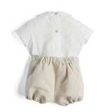 White & Beige Baby Boy Celebration Set - Set - PEPA AND CO
