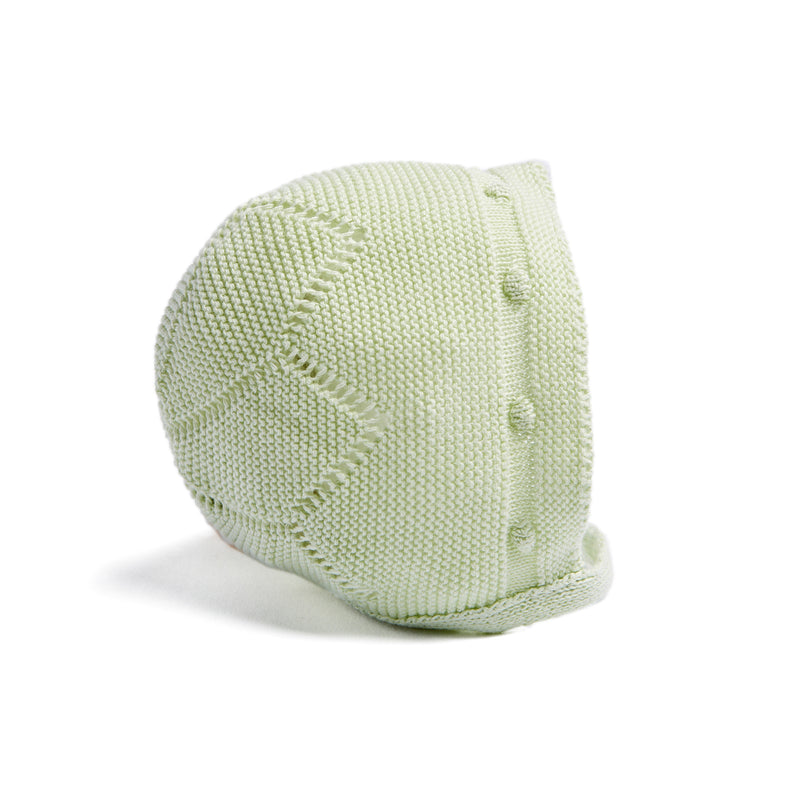Green Cotton Bonnet - Bonnet - PEPA AND CO