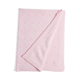 Pink Cotton Baby Blanket - Blanket - PEPA AND CO