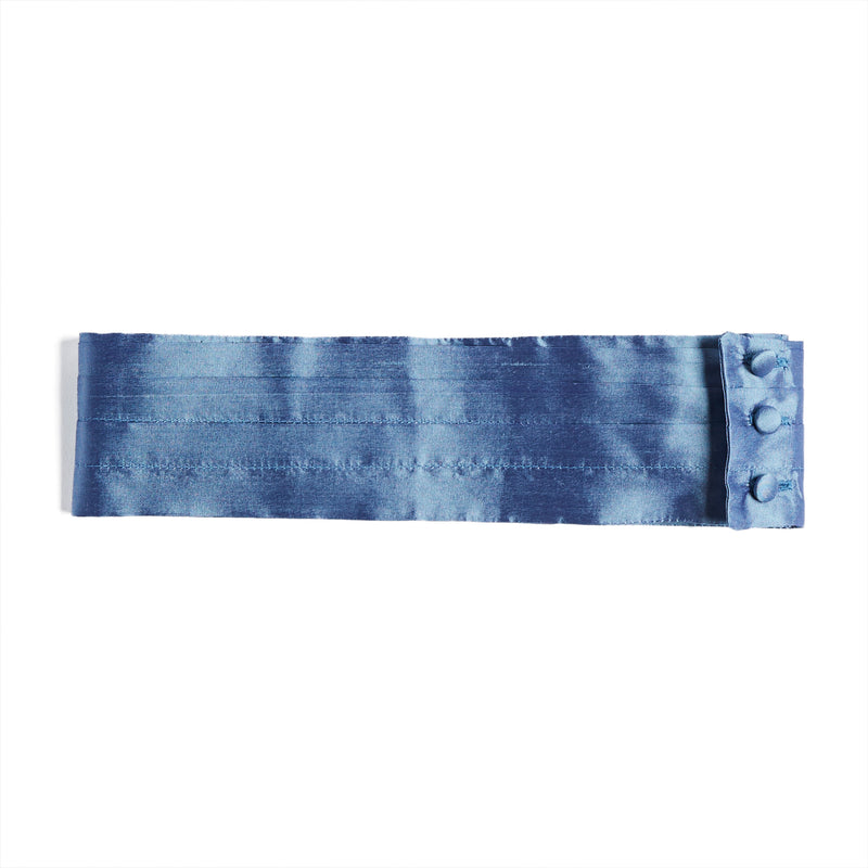 Dusky Blue Silk Celebration Cummerbund - Celebration - PEPA AND CO