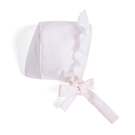 Romantic Pink Cotton Bonnet - Bonnet - PEPA AND CO