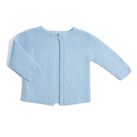 Blue Knitted Baby Cardigan - Knitwear - PEPA AND CO