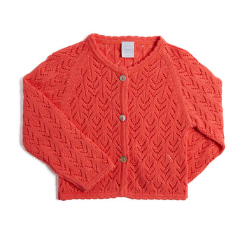 Coral Openwork Cardigan - Knitwear - PEPA AND CO