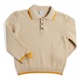 Traditional Oatmeal Jumper - Knitwear - PEPA AND CO