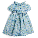 Blue Liberty Floral Handsmocked Dress - Dress - PEPA AND CO