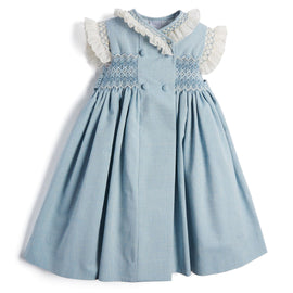 Traditional Blue Handsmocked Dress - Dress - PEPA AND CO