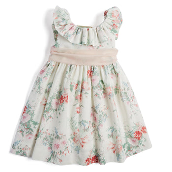 Pink Floral Celebration Dress with Sash - Dress - PEPA AND CO