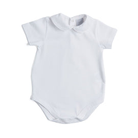 Cotton Bodysuit with Peter Pan Collar - Bodysuit - PEPA AND CO