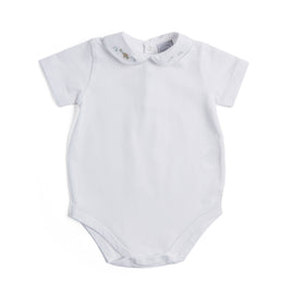 Cotton Bodysuit with Plane Embroidery - BODYSUIT - PEPA AND CO