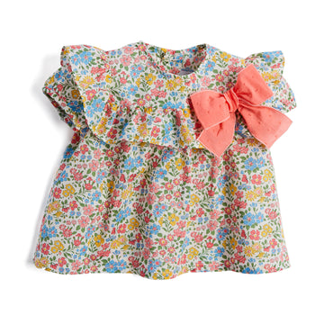 Liberty Floral Blouse with Bow - BLOUSE - PEPA AND CO