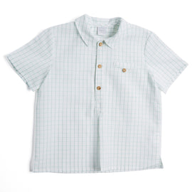 Classic Green Checked Short Sleeve Shirt - Shirt - PEPA AND CO