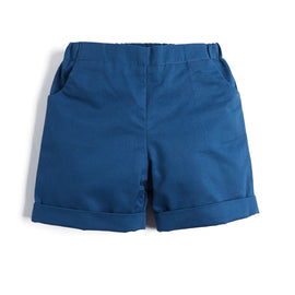 Baby Boys' Blue Cotton Shorts - Shorts - PEPA AND CO