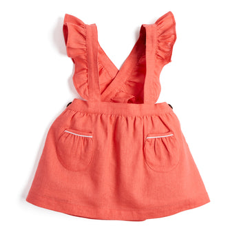 Coral Skirt with Ruffle Braces - SKIRT - PEPA AND CO