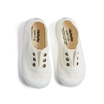 White Canvas Plimsolls - Shoes - PEPA AND CO