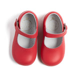 Mary Jane Coral Leather Baby Shoes - Shoes - PEPA AND CO