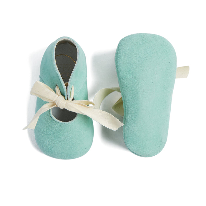 Mint Green Pram Shoes with Ribbon - BABY PRAM - PEPA AND CO