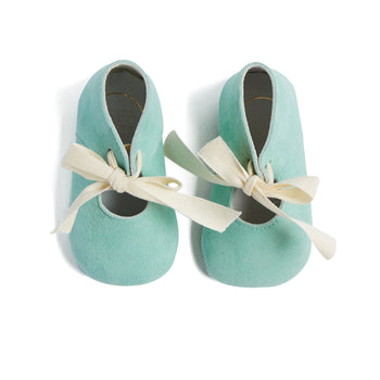 Mint Green Pram Shoes with Ribbon - Shoes - PEPA AND CO