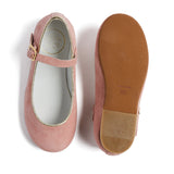 Girls Suede Pink Mary-Jane Shoes - Shoes - PEPA AND CO