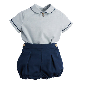 Navy Shirt & Bloomer Set - Set - PEPA AND CO