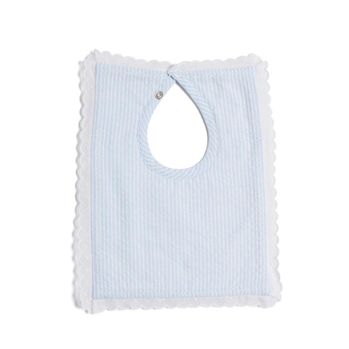 Blue Striped Cotton Bib - Accessories - PEPA AND CO