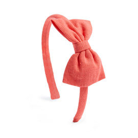 Coral Linen Hairband - Hair Accessories - PEPA AND CO