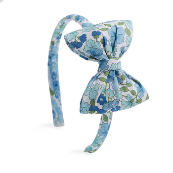 Blue Floral Hairband - Hair Accessories - PEPA AND CO