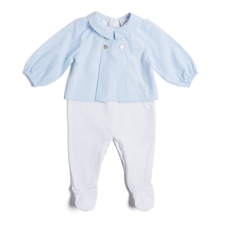 Blue Check Cotton All-in-One - Daywear - PEPA AND CO