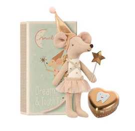 Tooth Fairy Sister Mouse with Metal Box - Toy - PEPA AND CO