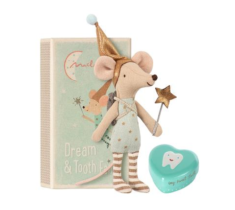 Tooth Fairy Brother Mouse with Metal Box - Toy - PEPA AND CO