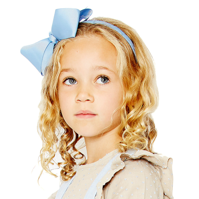 Big bow hairband - Light Blue
