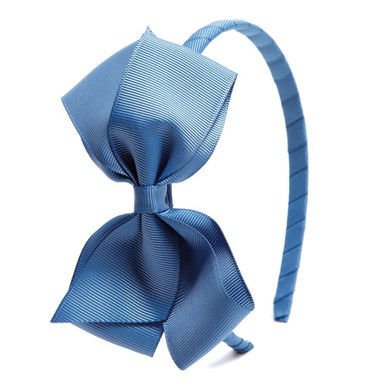 Light Blue Big Bow Hairband - Hair Accessories - PEPA AND CO