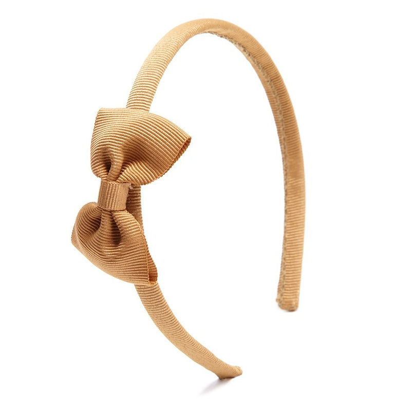 Small bow hairband - Beige