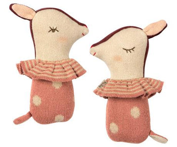 Bambi Rattle in Rose - Toy - PEPA AND CO