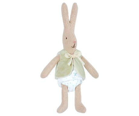 Micro Bunny with Green Vest - Toy - PEPA AND CO